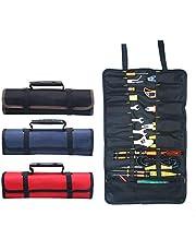 Draagbare Gereedschap Tas BE-TOOL 22 Zakken 600D Oxford Canvas Tool Roll Up Bag Grote Tote Carrier Organizer, Gemakkelijk Opslag & Draagbaar Beste voor Ambachtelijke Handymen Reparatie Blauw