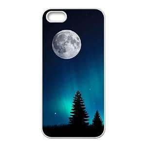 iPhone 4 4s Cell Phone Case Covers White Aurora Borealis M4Q7R