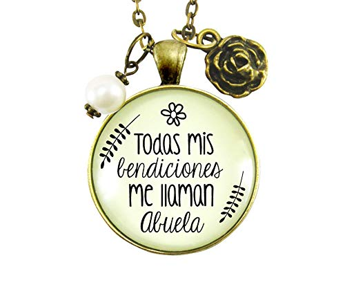 """Gutsy Goodness 36"""" Abuela Necklace All My Blessings Spanish Grandma Womens Gift Jewelry"""