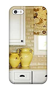 New Arrival Yellow Pottery With Tan Brick Backsplash For Iphone 5/5s Case Cover