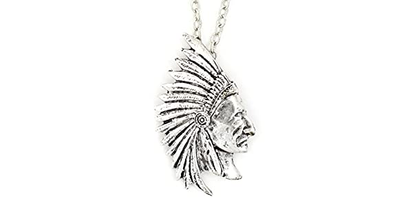 Amazon.com: Collar indio con colgante nativo de guerrero ...