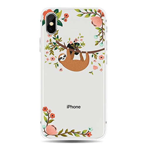 check out 1a869 7881f iPhone X Case/iPhone Xs Case,Blingy's Transparent Clear Animal Style  Protective Soft TPU Rubber Case Compatible for iPhone X and iPhone Xs  (Hanging ...