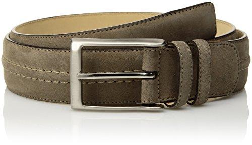 Mezlan Men's Belts Men's Naville Suede Belt, Khaki, 40 (Mezlan Suede Belt)