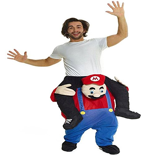 Christmas Funny Pants Piggyback Ride On Riding Animal Shoulder Adult Costume--One Size (Ship by DHL) (Super Mario Mascot)