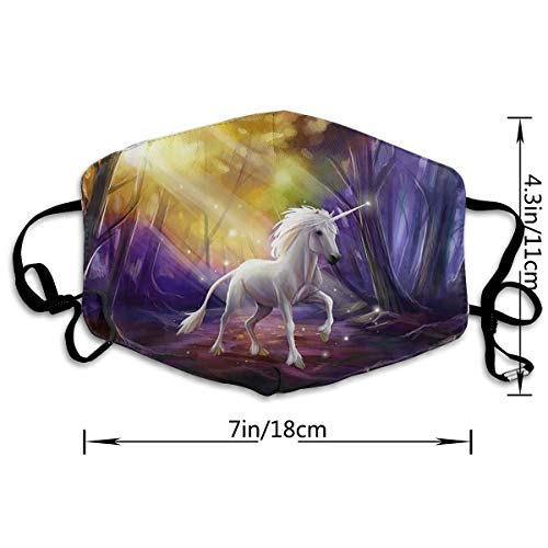 Horse Forest Adult Printing Protective Fashion Air Mask | Face Mask | Anti Pollution Dust Mask | Washable And Reusable