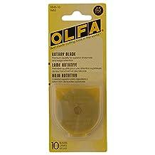 Olfa 9453 RB45-10 45mm Rotary Blade, 10-Pack