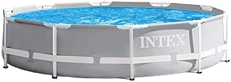 Intex 10' x 30″ Above Ground Swimming Pool w/ 330 GPH Filter Pump Pool Ladder