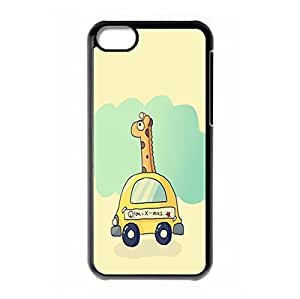 Girls Animal Giraffe hard back phone case for iPhone 5c