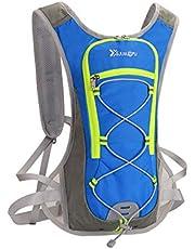 COMLIFE Mini Mochila Impermeable de Bicicleta que Se Puede Poner Paquete de Hidratación 2L(No Incluido), Respirable Hombro Mochila Ligero para Deportes al Aire Libre Acampar Corriendo, Azul