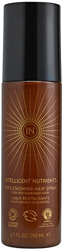 Intelligent Nutrients Replenishing Hair Spray - Certified Organic & Non-Aerosol Hairspray with Light Hold (6.7 oz)