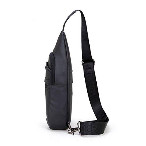 Oxford Para Pequeño Messenger Casual Hombres Bolso Bag Black vqgTwSPcE6