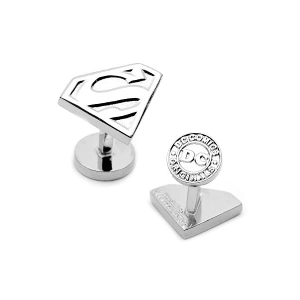 DC-Comics-Silver-Plated-Superman-Shield-Cufflinks