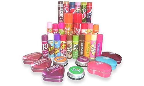 5 x Assorted Lip Balm / Lip Gloss (J20/Hersheys/Walls/Pepsi/Jelly Belly/Fanta/Tango) - Lip Balms/lipbalm