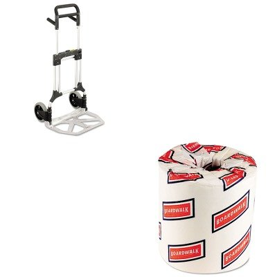 KITBWK6180SAF4055NC - Value Kit - Safco Stow-Away Heavy-Duty Hand Truck (SAF4055NC) and White 2-Ply Toilet Tissue, 4.5quot; x 3quot; Sheet Size (BWK6180)
