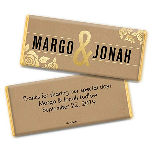 Wedding Favors Personalized Chocolate Bar Wrappers (25 Count)