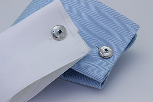 Zsamuel-Mens-Sterling-Silver-Blue-Sapphire-Cabochon-and-Mother-of-Pearl-Round-Cufflinks