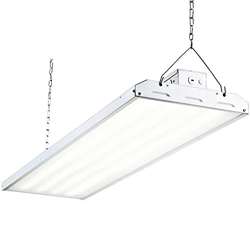 High Bay Light Fixture - Hykolity 4FT LED High Bay Shop Light Fixture 223W [800W Fluorescent Equivalent] 29250lm 5000K Dimmable Commercial Grade Warehouse Area Indoor Industrial Lights DLC Premium 4.2 Certified