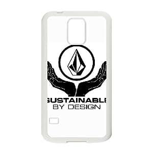 VOLCOM LOGO 01 para funda Samsung Galaxy S5 funda del teléfono celular de cubierta blanca