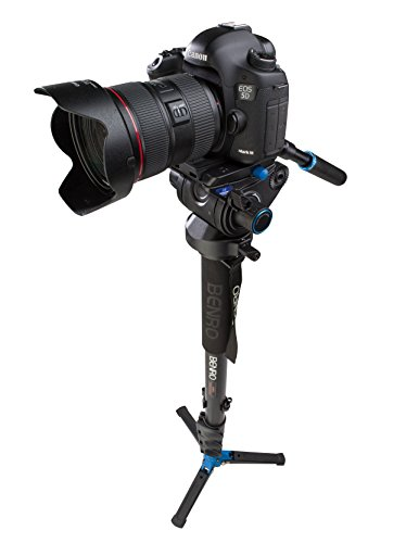 Benro Aluminum 4 Series Flip-Lock Video Monopod Kit w/ 3-Foot Articulating Base and S6 Video Head (A48FDS6) by Benro (Image #2)