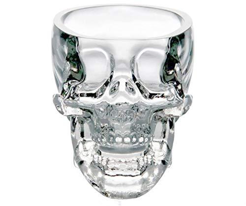 Autek 3D Skull Head Shot Glass Vodka Whisky Bar Party Drink Gift Crystal Cup Mug 75ml