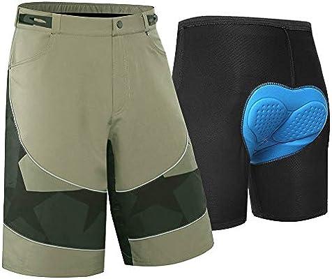 AZZL Pantalon Corto Ciclismo Hombre Pantalon Bicicleta Hombre MTB ...