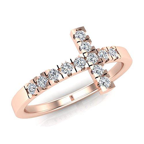 0.24 Ct Diamond Cross - 6