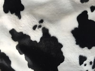White Black Cow Velboa Faux Fur Fabric - Sold By The Yard - 58