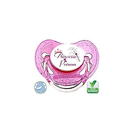 Sucette bébé Princesse baguette à personnaliser La panoplie Des Petits LAPTND-23033