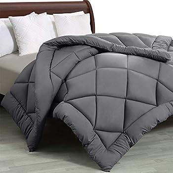 Utopia Bedding - All Season Quilted Duvet Insert - Goose Down Alternative Comforter - Full/Queen - Grey