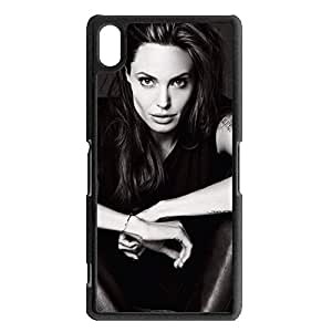 Unique Cool Angelina Jolie Phone Case Cover For sony xperia Z2 Angelina Jolie Stylish