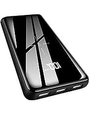 Gnceei Batería Externa 25000mAh Cargador Portátil Inalámbrico, Power Bank de Alta Capacidad con Entrada Doble y Tres Puertos de Salida USB para Android/iOS Phones, Tablet y Más