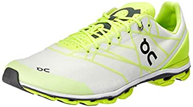 ON Men's Cloudflash Running Shoes, White/Lime, 7 AU