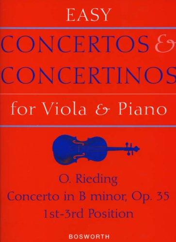 EASY CONCERTOS & CONCERTINOS FOR VIOLA & PNO CONCERTO IN  BMINOR OP 35 1-3 POSITIONS by MUSIC SALES AMERICA