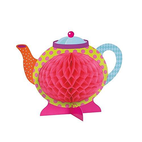 """Set of 2 Unique 10"""" Mad Hatter Tea Party Teapot Centerpiece Decoration bundled by Maven Gifts"""