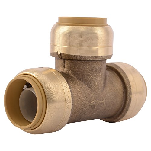 SharkBite U370LFA 3/4-Inch Tee, Plumbing Fittings for Residential and Commercial Water Applications, Lead-Free