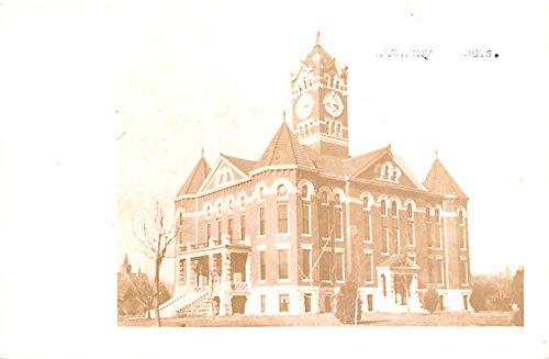 Big Building with Clock Anthony, Kansas postcard
