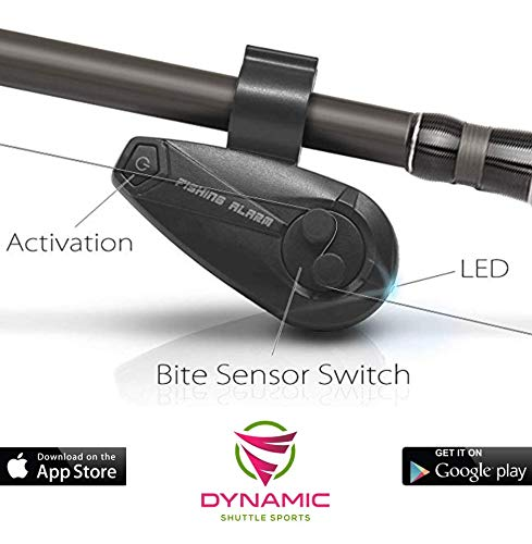 Dynamic Shuttle Sports Smart Bluetooth Fishing Rod, Gadgets Pole, Gear, Accessories, Bells, Equipment, Indicators, Sensors, Strike Alert FishBite Alarm, Electronic Fishing Equip ()