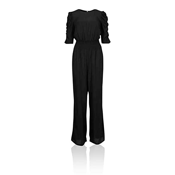 Marks /& Spencer T428208S M/&S Collection Round Neck Waisted Black Jumpsuit £39.50