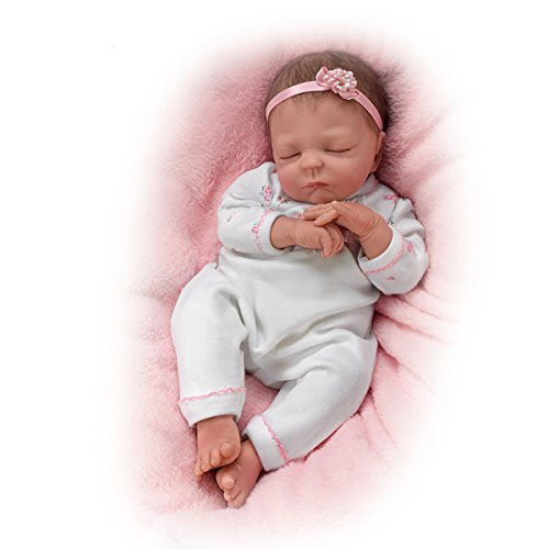 Cuddle Caitlyn With Warming Feature and Blanket - So Truly Real® Lifelike & Realistic Newborn Baby Doll 17-inches  by The Ashton-Drake Galleries Ashton Drake Newborn Doll