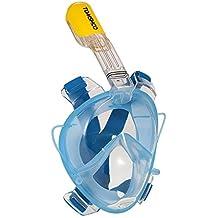 tomshoo 180° Vista Panorámica Full Face Snorkel máscara con antivaho y tecnología anti-leak última intervensión diseño de fácil respirar Snorkel máscara para adultos Swimming