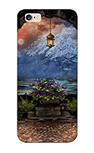 Premium WkyWBIv1461QImCW Case With Scratch-resistant/ Art Arch Mountains Light Trees Flowers Sky Clouds Case Cover For Iphone 6 Plus