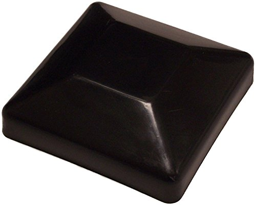 (12 Pack Plastic Fence Post Black Caps 4X4 (3 5/8