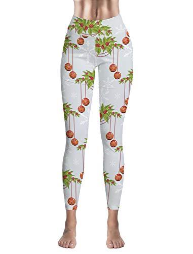 (Custom Women Legging Merry Christmas High Waist Leggings Tights Yoga Pants)