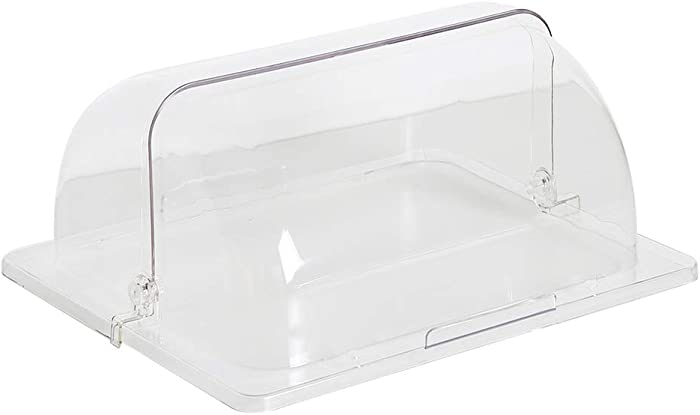 HEMOTON Countertop Bakery Display Case Chafing Dish Cover Clear Plastic Bakery Pan Display Cover Pastry Cake Snack Dessert Showcase Cover (Transparent)