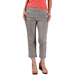 Jag Jeans Women's Echo Crop in Dolce Twill, Fog Grey, 0 Petite