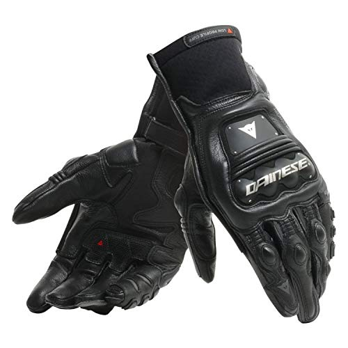 Dainese Steel Pro Leather Motorcycle Gloves - Black/Anthracite - L