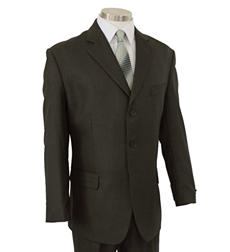 Cardinali Men's 3 Button Classic-Fit Suit [Color Olive | Size: 44 Regular/38 Waist]
