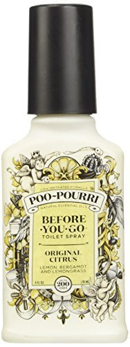 - Poo-Pourri Before-You-Go Toilet Spray 4-Ounce Bottle, Original Citrus Scent
