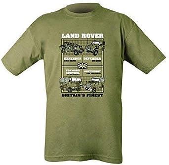 Kombat Land Rovers Camiseta - Verde Oliva: Amazon.es: Ropa y accesorios