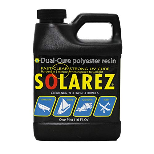 Solarez UV Cure Polyester Resin, for Custom Woodworking, Surfboard Building, Clear Laminating Resin